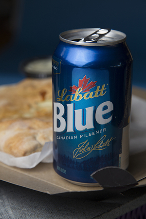 Labatt Blue Canadian Pilsener has fruity, cornbread hints but is also not overly sweet.