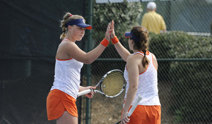 Gabriela Knutson and Valeria Salazar had their seasons ended by third-ranked Brooke Austin and Kourtney Keegan of Florida.