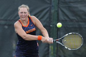 Gabriela Knutson and Syracuse fell to top-seeded Florida, 4-0, to end SU's best season ever.
