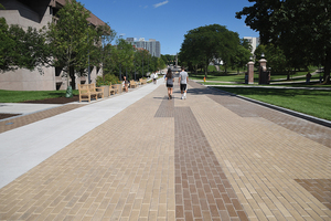 The furnishings for the University Place promenade — or the Einhorn Family Walk, as it was recently named — are going to be replaced with ones that will make better use of the large space.