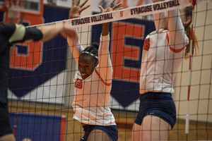 Santita Ebangwese helped spark Syracuse's five-set win over Wake Forest on Friday night.