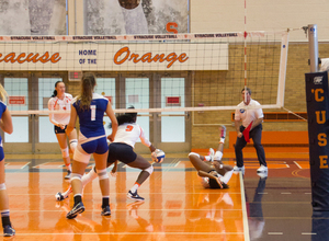 Syracuse defense had a hard time dealing with Florida State's serves and as a result its defense did not fare well.