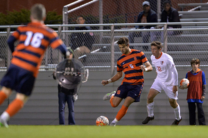 Senior defender Louis Cross scored in Syracuse's 2-1 NCAA tournament victory over Dartmouth last year.