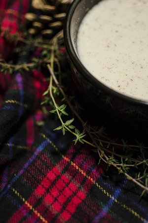 You can use brandy, whiskey or rum to make eggnog during the holiday season.