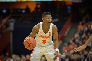 Andrew White scored 13 points for SU, behind Tyus Battle's 21 and Tyler Lydon's 16.