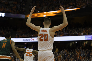 Tyler Lydon scored 20 points, second to only Andrew White's 22 to pace Syracuse past the Hurricanes.