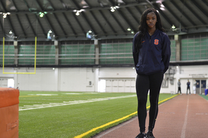 Tia Thevenin suffered a torn muscle connecting her gluteus maximus to her hamstring during her freshman year.