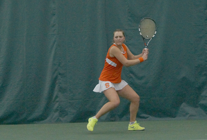 Gabriella Knutson lost her doubles match with Libi Mesh in the Orange's loss.