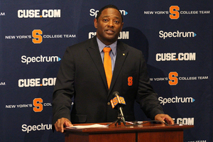 Dino Babers appeared in front of the media to talk about his incoming class of players.