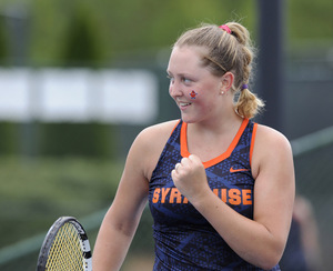 Sophomore Gabriela Knutson will lead Syracuse this season, especially with senior Valeria Salazar out for the year.