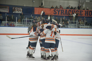Dodgeball has been a mainstay for Syracuse in preparing to take the ice at Tennity.