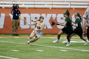Nicole Levy was tied for the lead with five points today for the Orange.