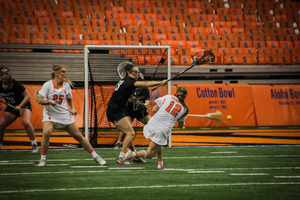 Syracuse scored five goals in the first 10 minutes and didn't look back, crushing Binghamton on Saturday night.