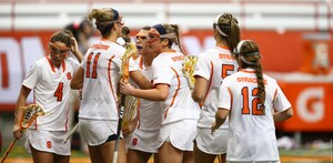 In Syracuse's first three games, 17 different players were a part of 52 goals scored.