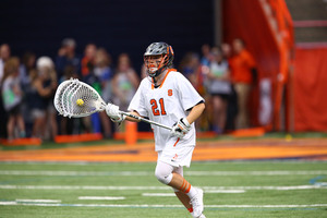 Asa Goldstock struggled in the net but it didn't hurt Syracuse too much in a lopsided victory.