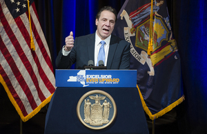 Cuomo proposed the Excelsior Scholarship during his State of the State addresses, one of which he gave in Syracuse, pictured here.