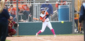 Junior utility infielder Rachel Burkhardt went 2-for-4 in game 2 on Tuesday, stealing a base and getting two RBI.